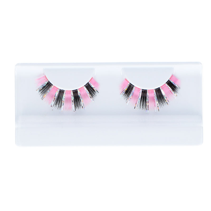 Lashes Glitter & Glamour Black & Pink